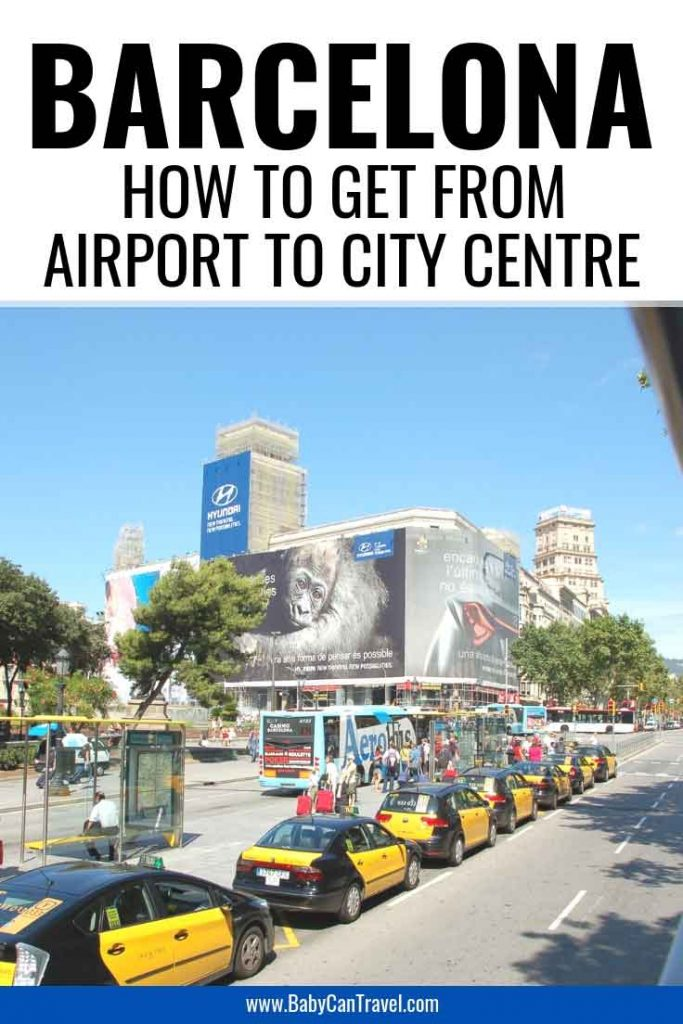 How to get from Barcelona-El Prat Airport to City Center or your Hotel. We include the best options including public transportation. #Barcelona #BarcelonaAirport #Airporttransfer #Spain