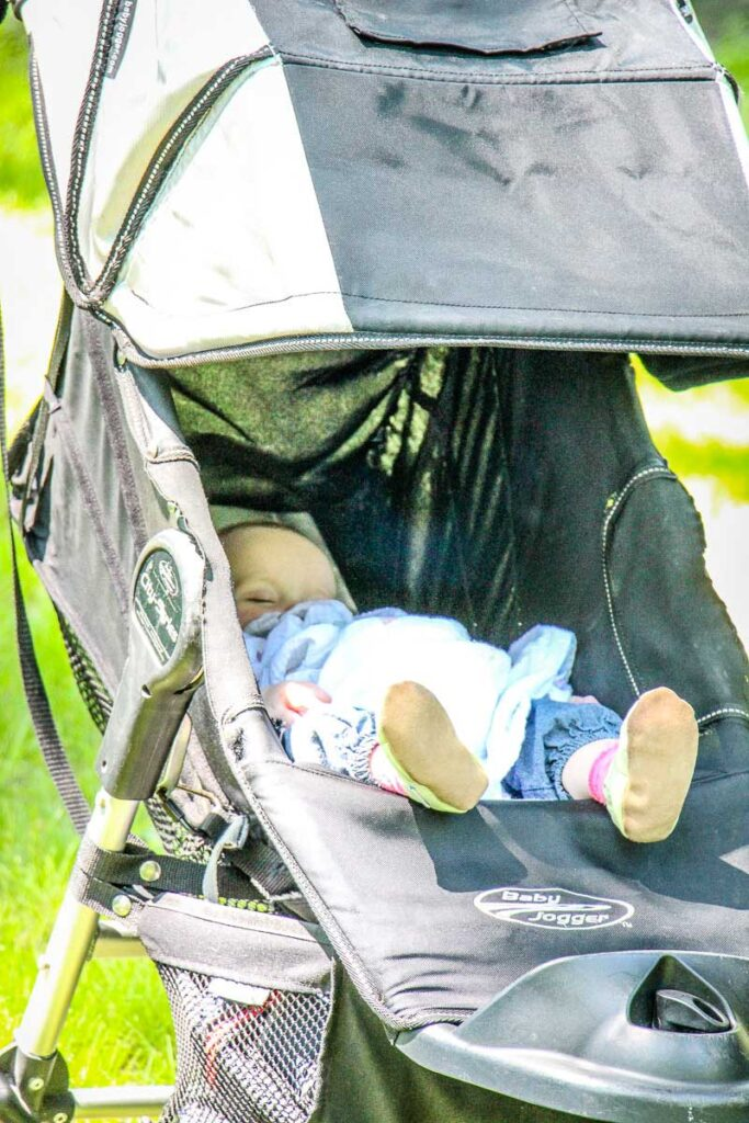 what to do when baby won't sleep in travel crib - naps in stroller on the go