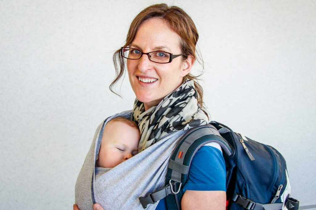 tips for getting baby to nap in carrier on vacation