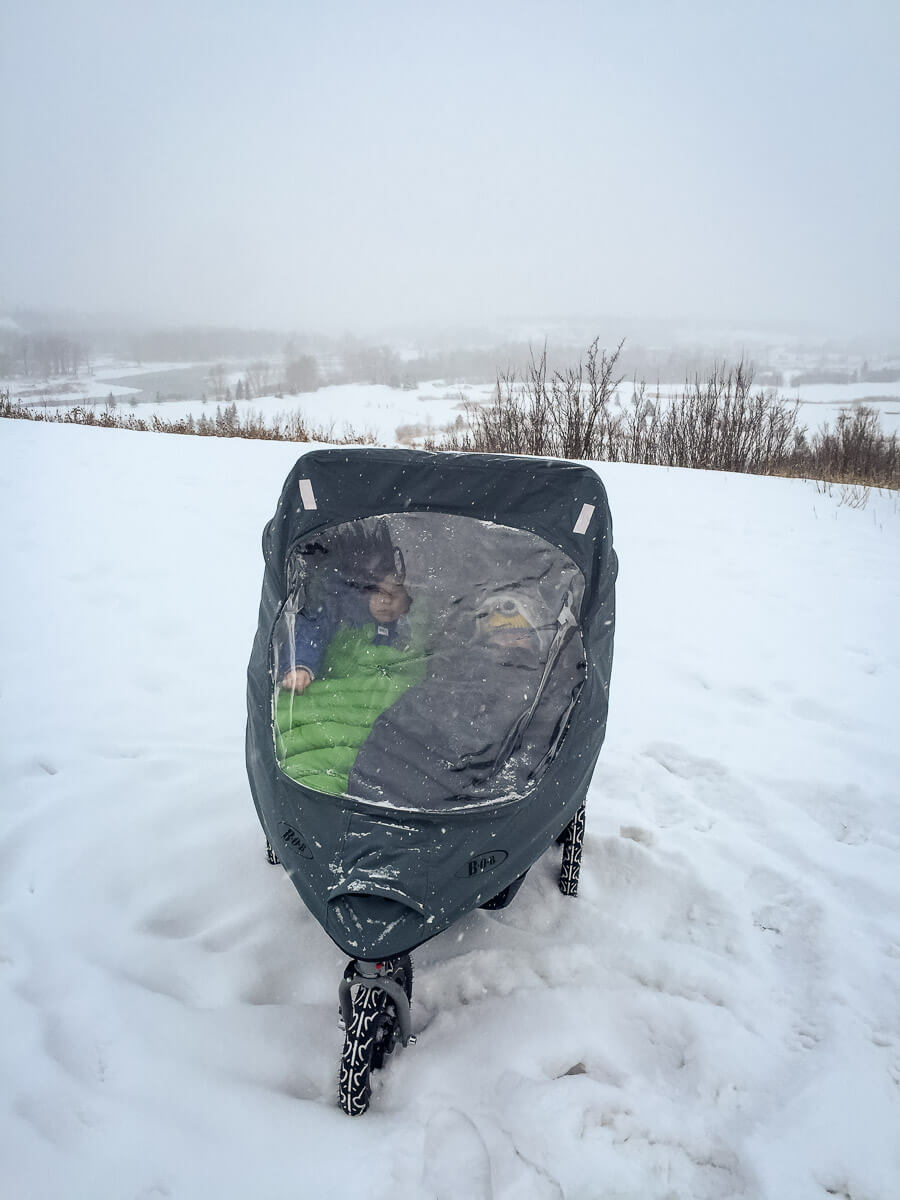 how to keep baby warm in stroller in winter
