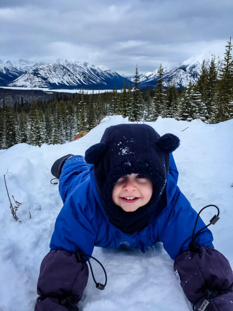 outdoor winter activities with a baby