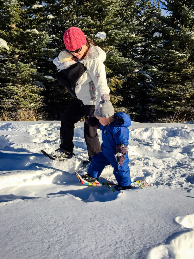 outdoor winter activities with a toddler