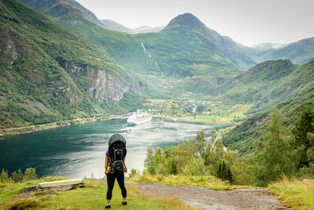 using backpack carrier for baby for travel in Norway