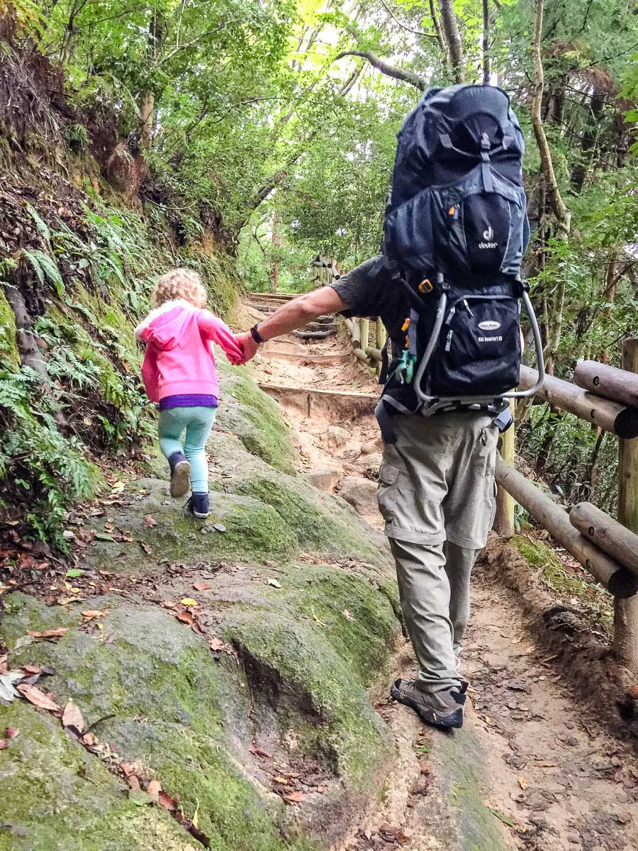 hiking with toddler in Japan
