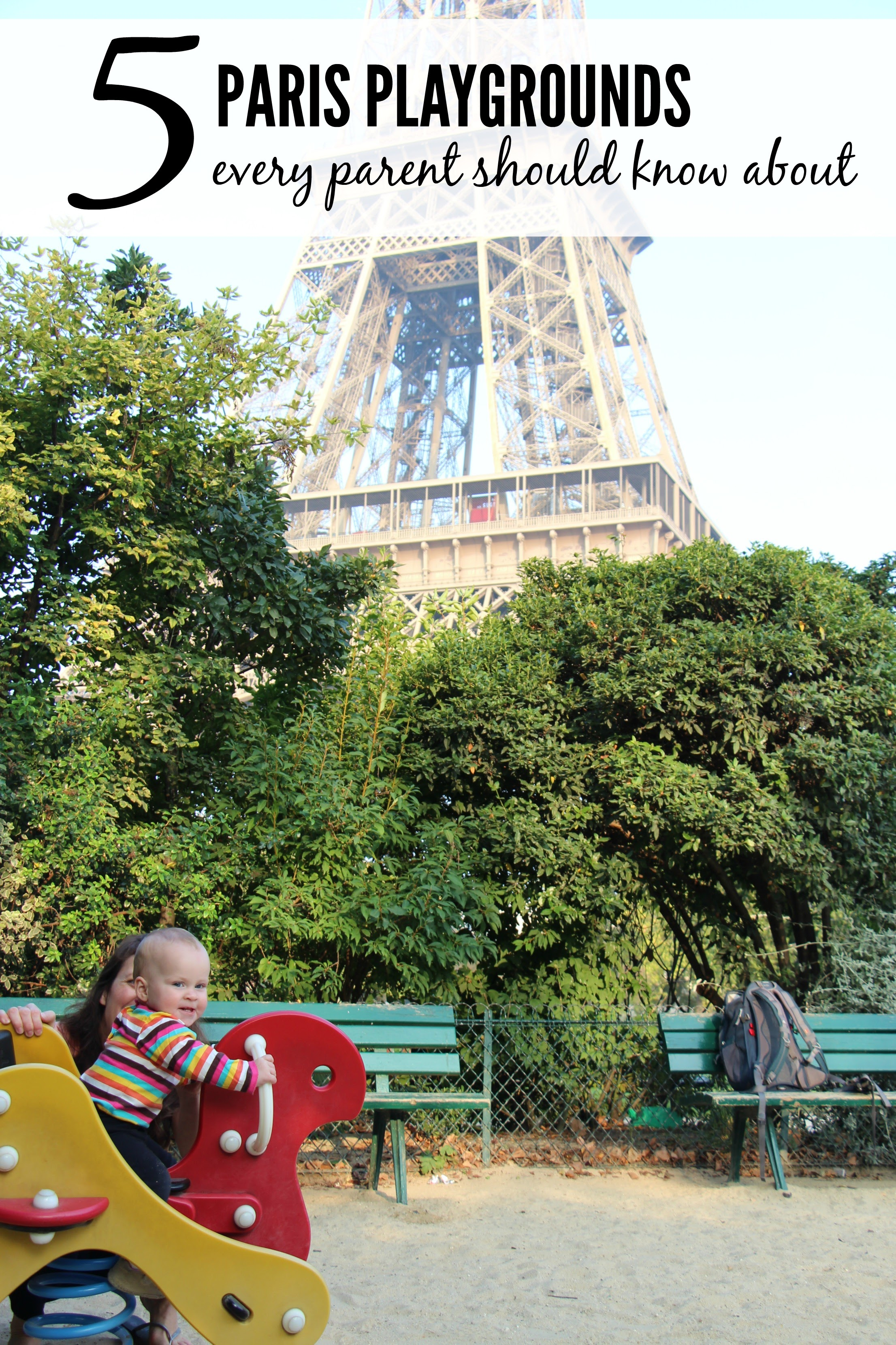Going to Paris with a baby or toddler? Read this post first to know where to find all the best playgrounds & play areas around Paris! #babytravel #travelwithbaby #paris #parisfrance #travelwithchildren #toddlertravel