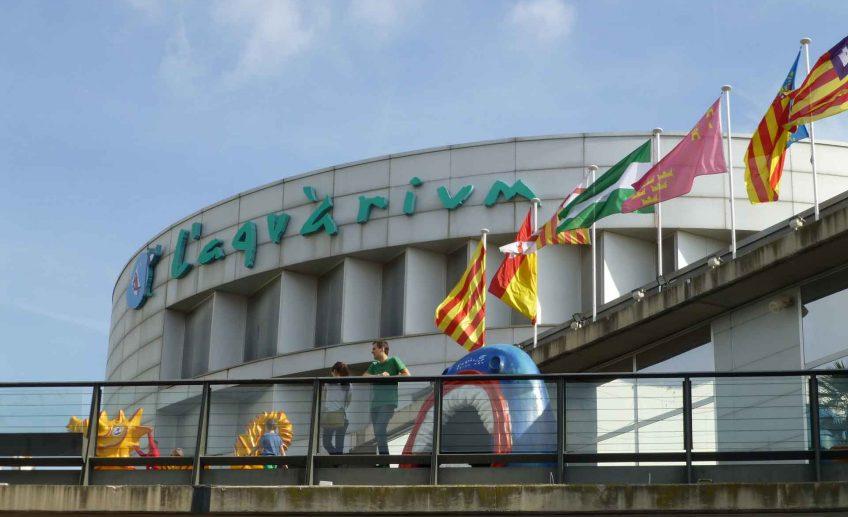 Barcelona Aquarium with a baby