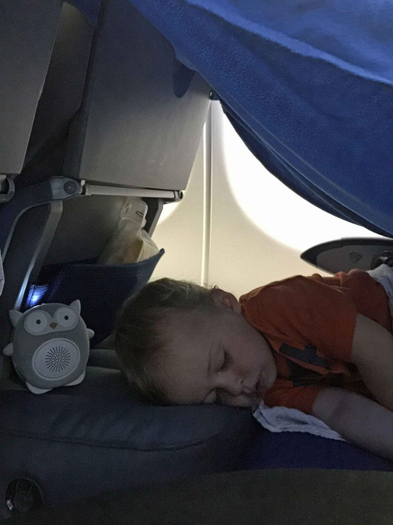 Using Fly Tot on airplane - Inflatable Airplane Cushion