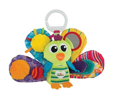 Lamaze Jacque The Peacock - perfect for entertaining baby on a plane