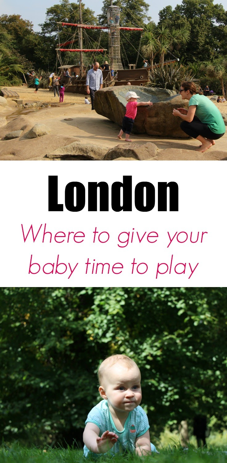 London - Giving Your Baby Time to Play! We made sure our daughter had time to explore and play each day while visiting London. See where we found playgrounds or parks to let her play. #london #babytravel #familytravel #toddlertravel