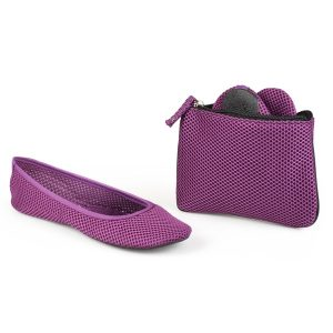 Baby Can Travel - Travel Gear for Mom - Sidekicks-Womens-Mesh-Foldable-Ballet-Flats
