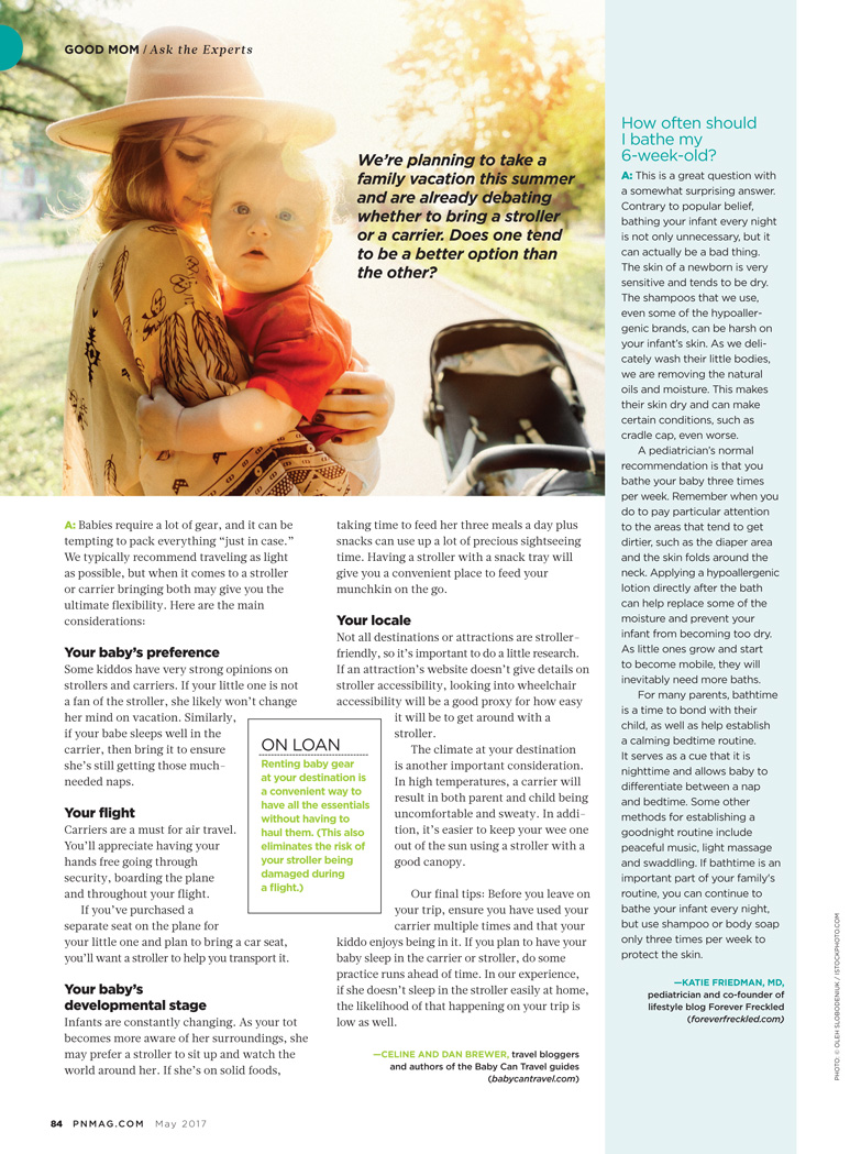 Baby Can Travel featured in Pregnancy & Newborn - May 2017 Issue