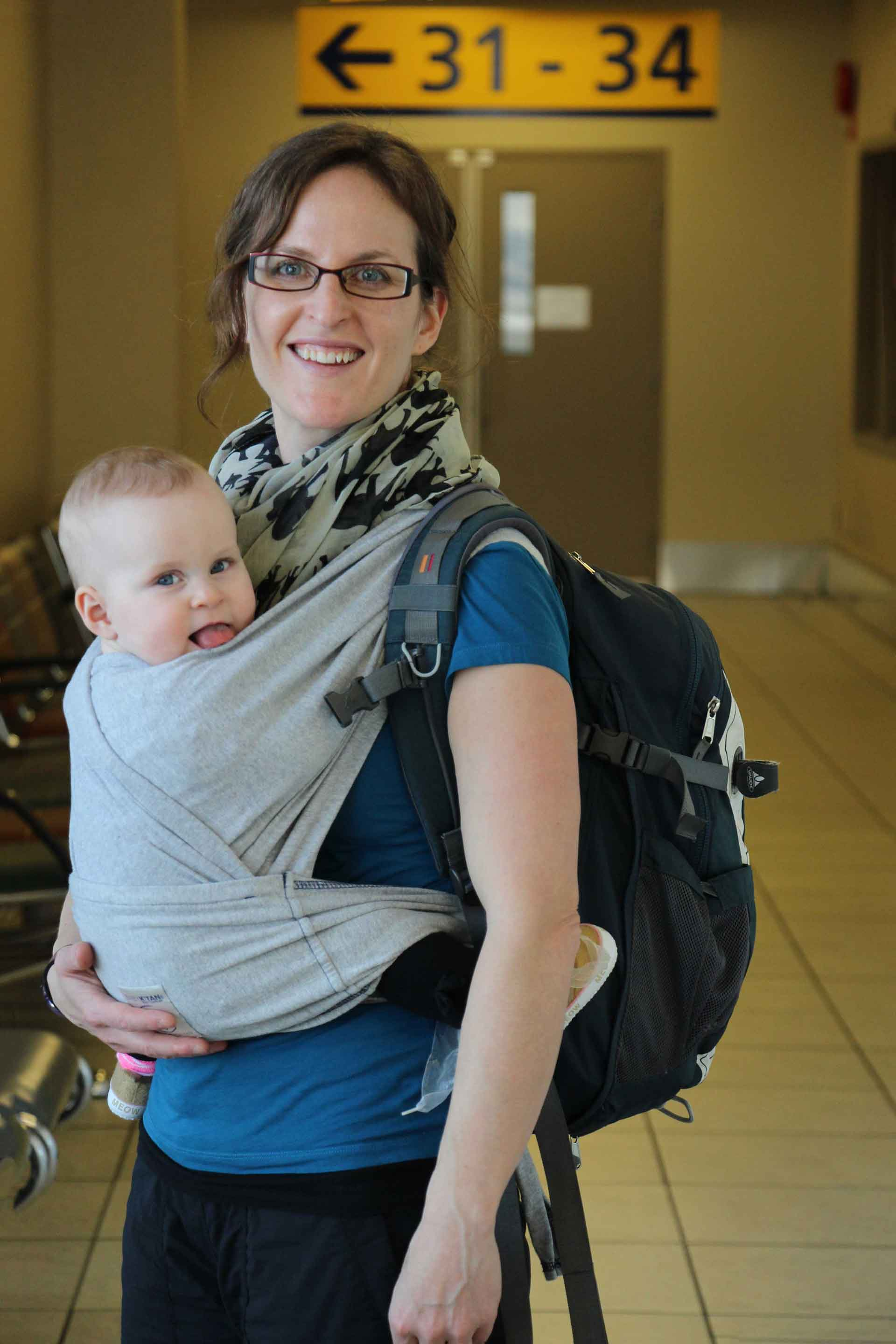 Baby in Carrier for Flight