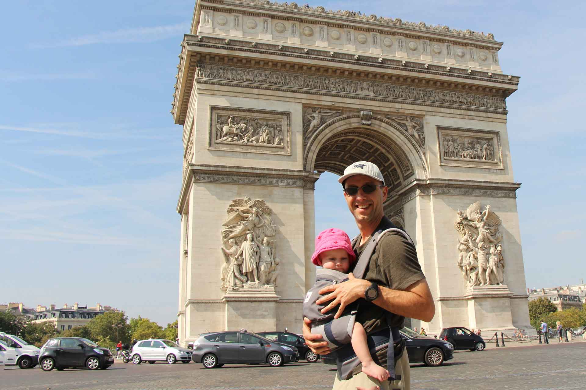 Baby in Carrier for Sightseeing