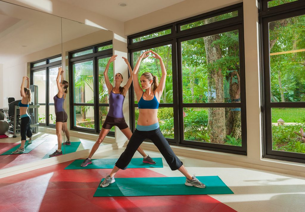 A yoga class at Beaches Negril