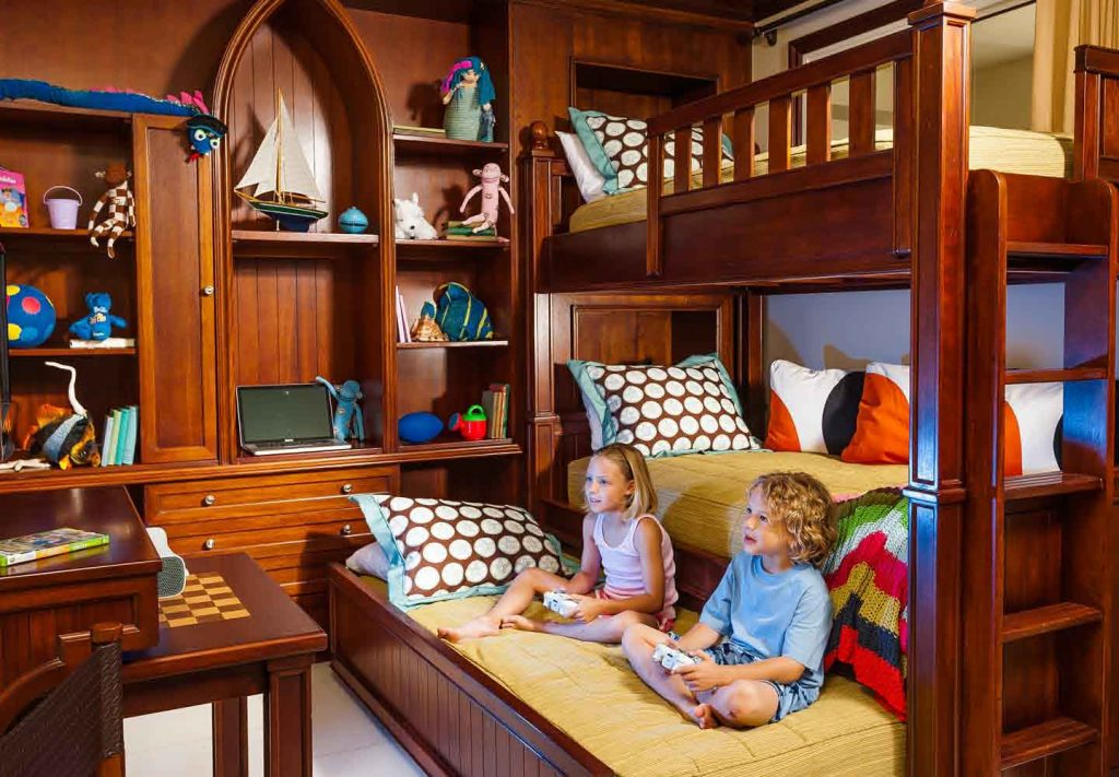 Children enjoying their own space in a family room at Beaches Turks and Caicos