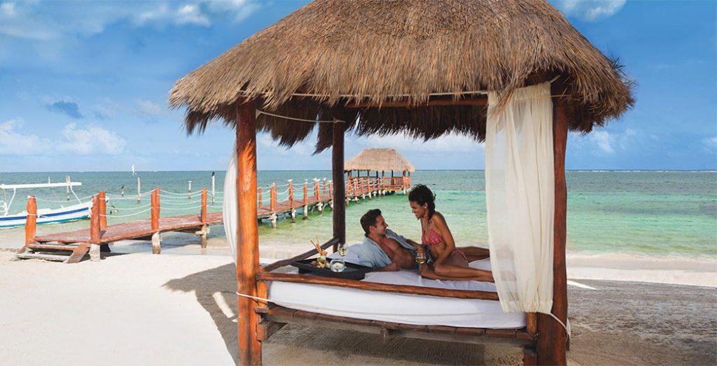 a beach-front cabana
