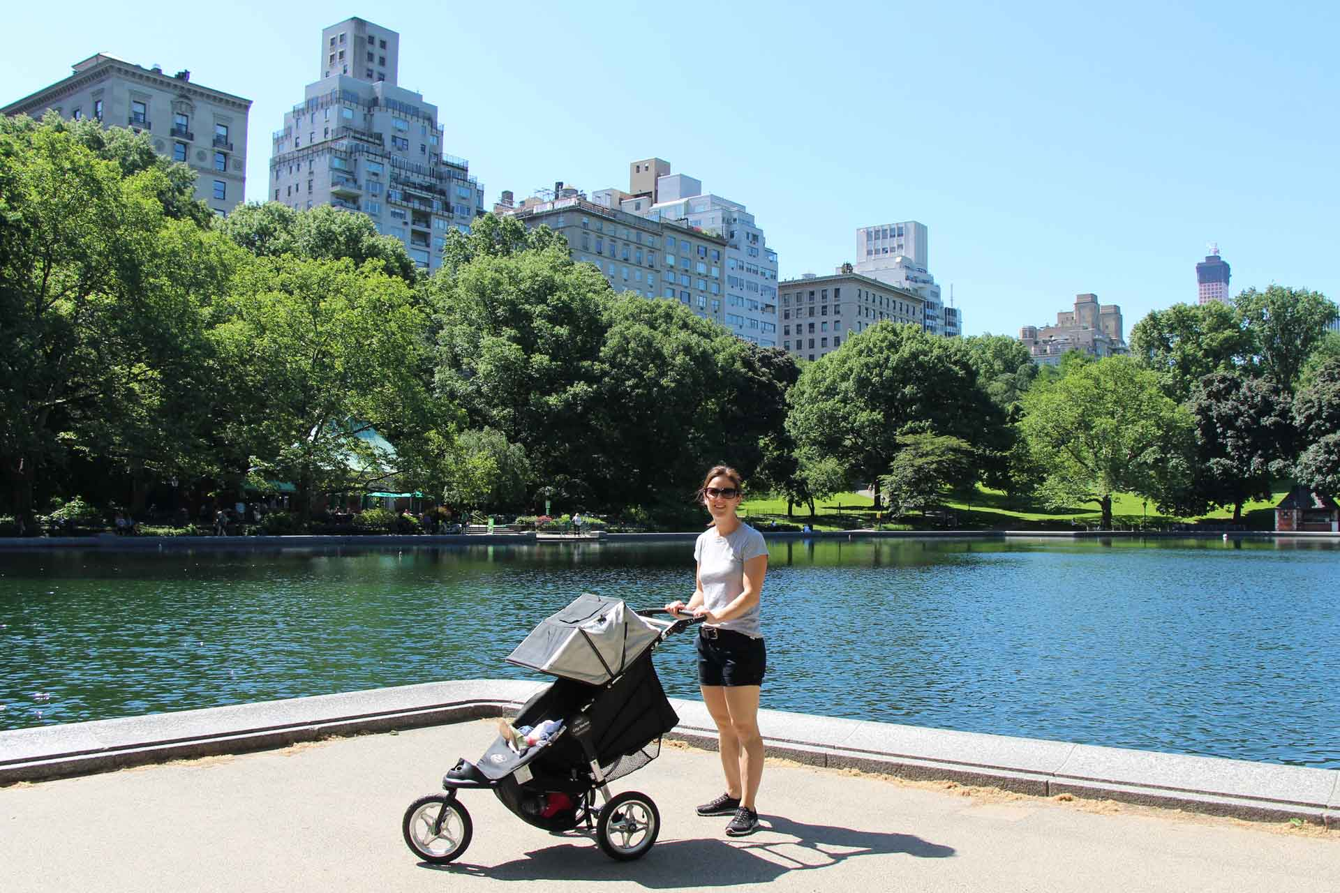 Stroller for travel with a baby