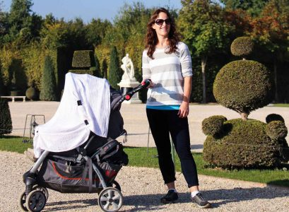 Baby Travel in Paris, France
