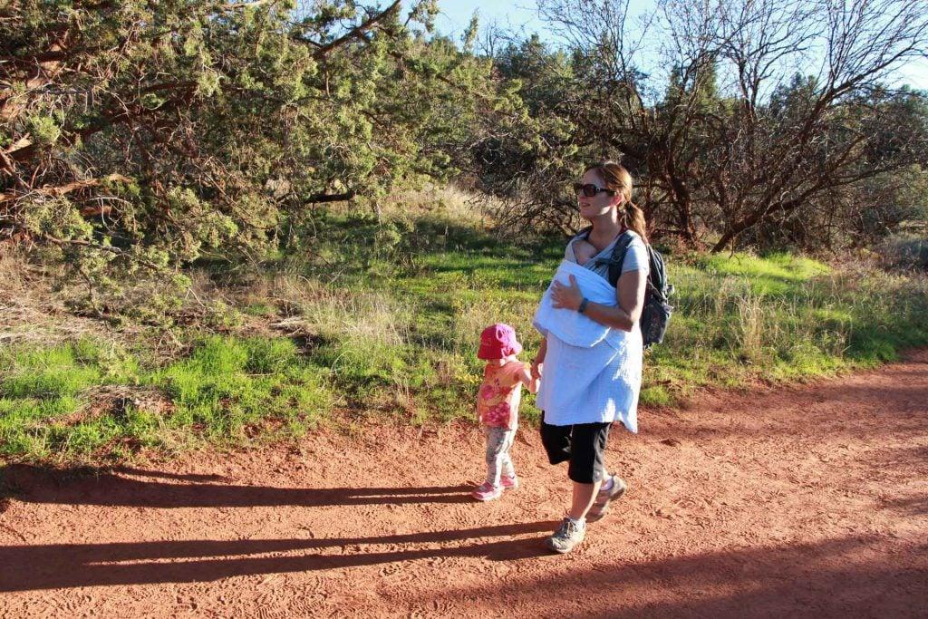 A family enjoys the Baldwin hike in Sedona