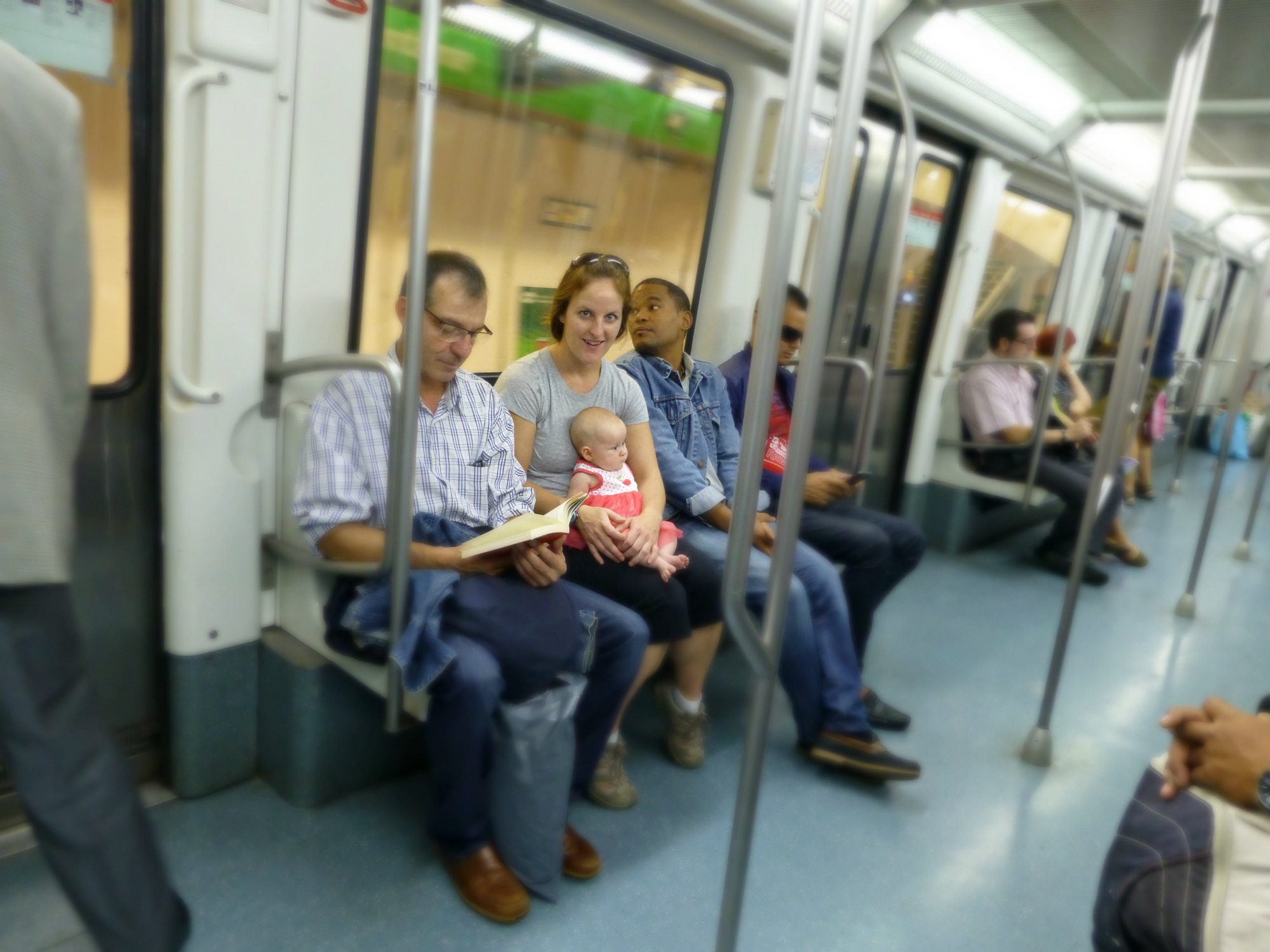 Barcelona Public Transit with a baby