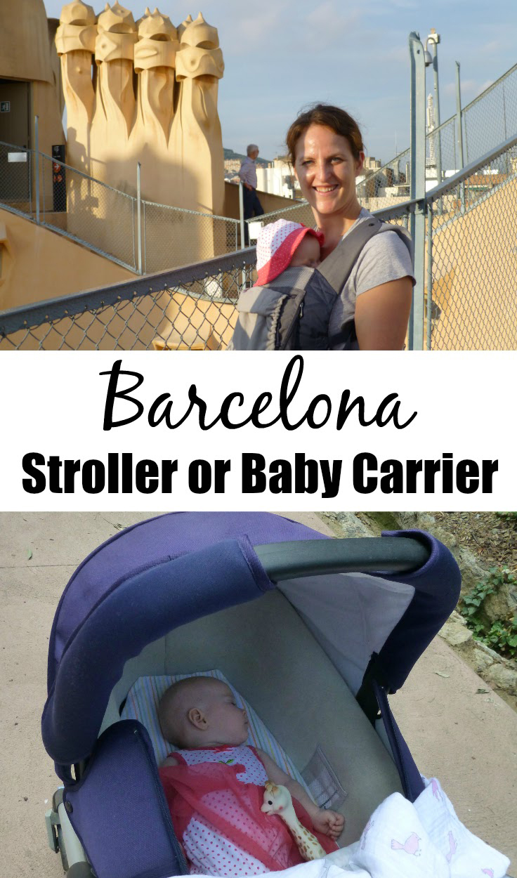Travelling to Barcelona with a baby? Bring a stroller and baby carrier for the ultimate flexibility! Here's a list of what to use where. #barcelona #travelwithbaby #stroller #babycarrier #babytravelgear #travelgear #baby #toddlertravel #familytravel #spain