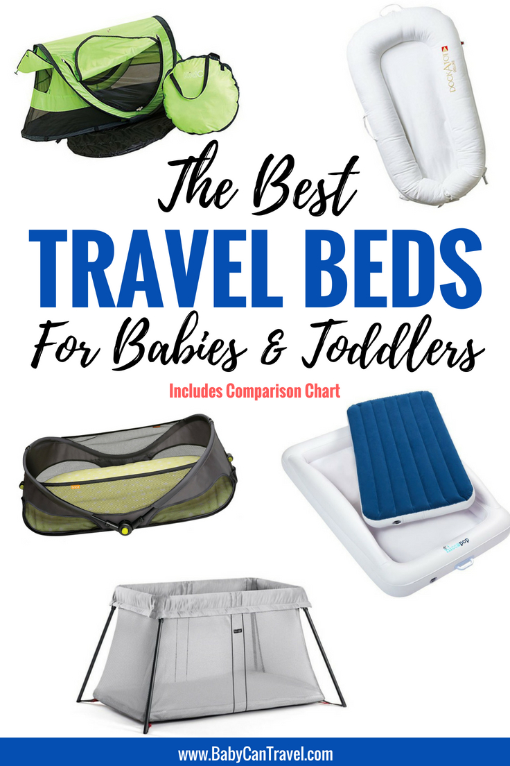 5 Best Options for Travel Cribs for Babies and Portable Sleeping Options for Toddlers! #travelcrib #bassinet #travelcot #inflatablebed #toddlertravel #toddlerbed #travelwithbaby #travelwithinfant