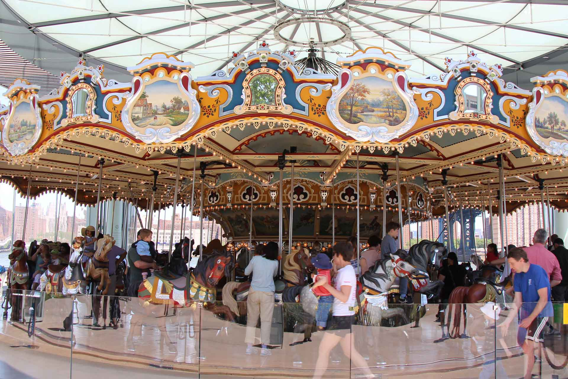 Carousel in Brooklyn Bridge Park