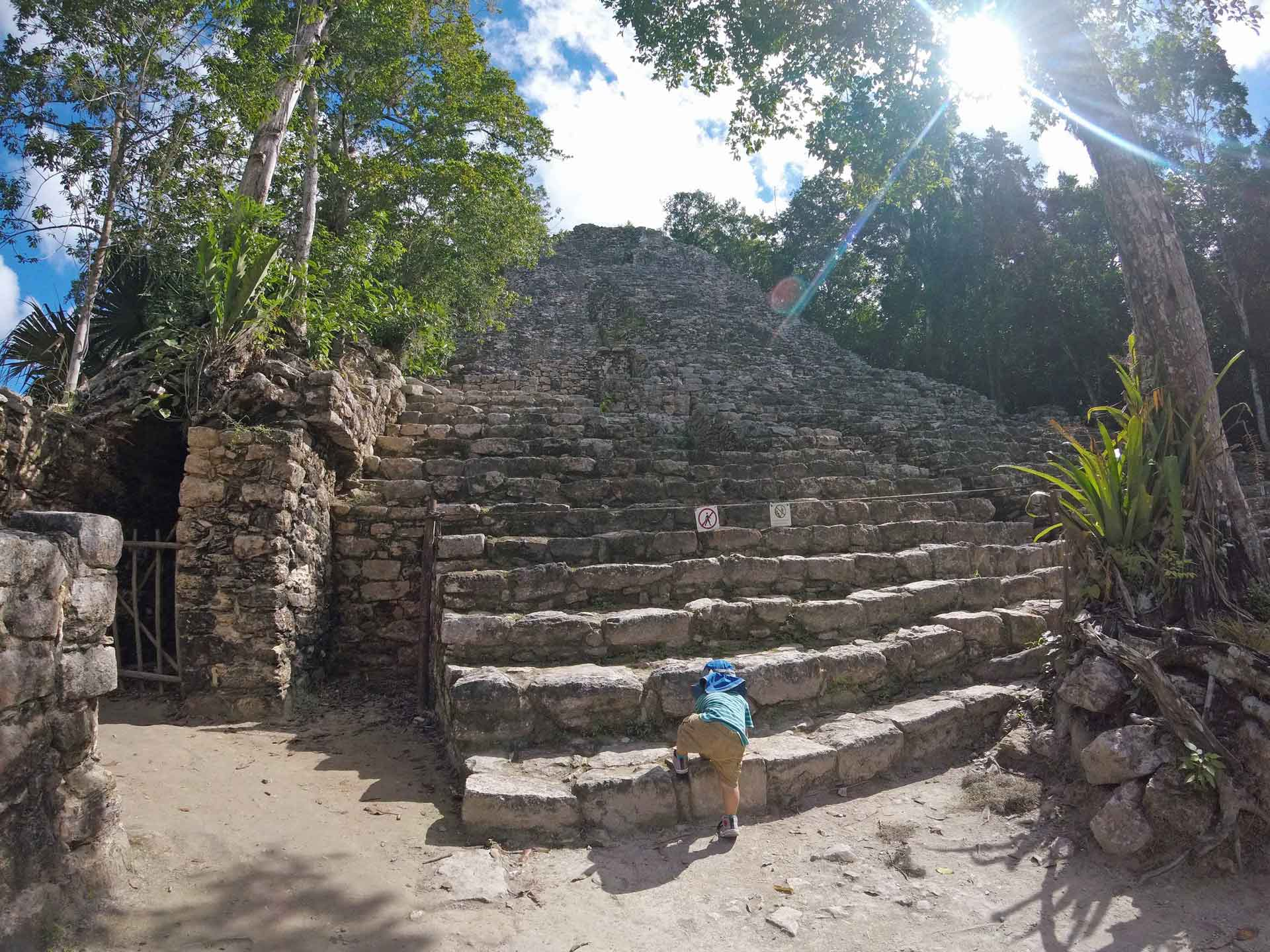Visiting Ancient City of Coba in Mexico