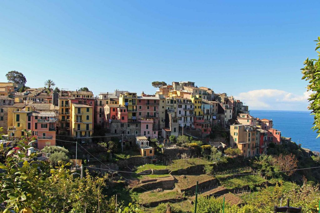 Visiting Corniglia with a baby
