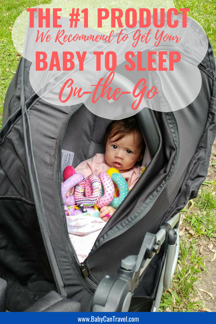 For travel with baby or even just for every day use, this product is the best out there to help get your baby to sleep on-the-go! We did a full review of the CoziGo and every parent should have one for travel with a baby! #travelwithbaby #babytravel #babygear #travelgear