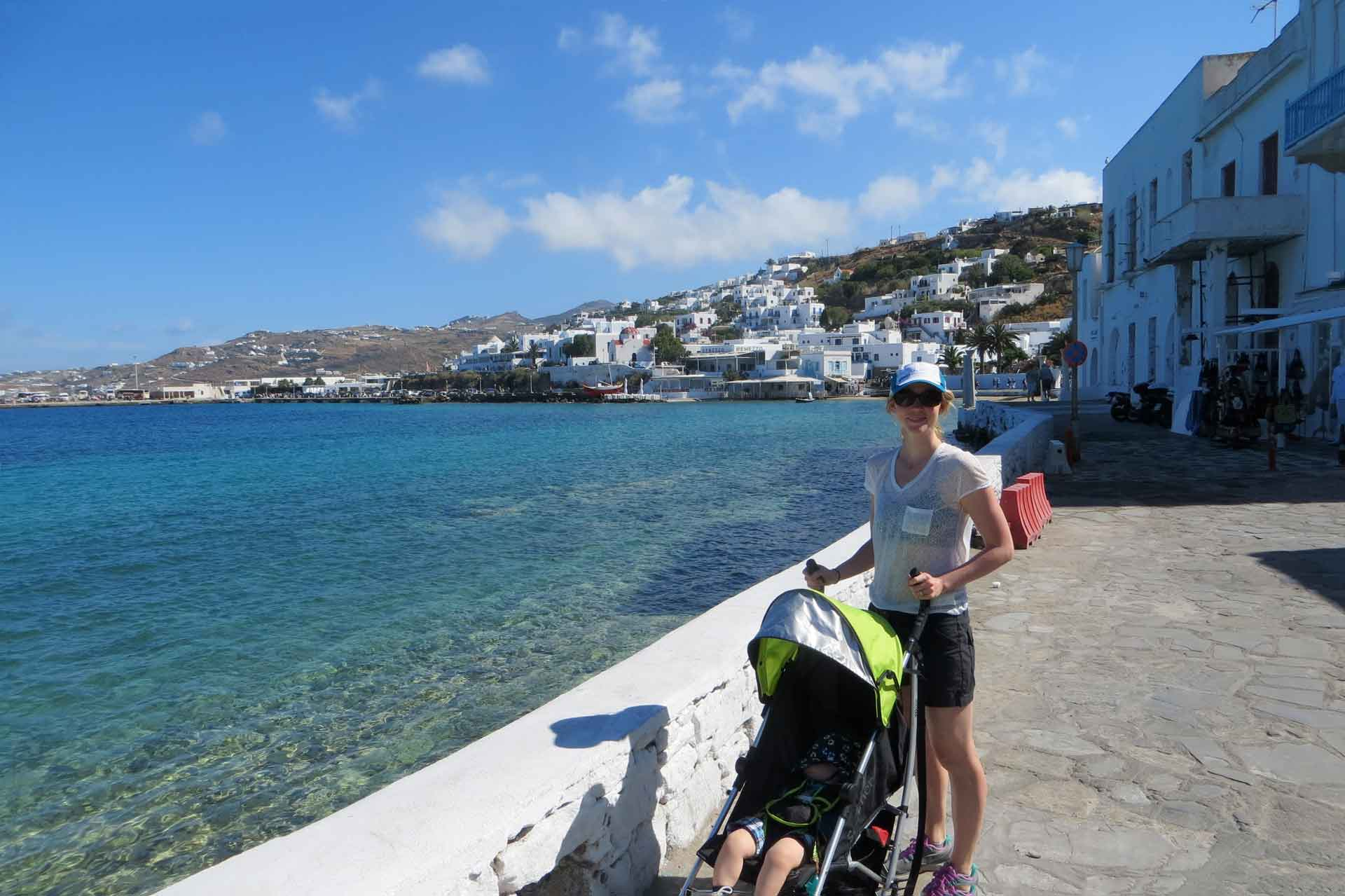 travel with baby greece