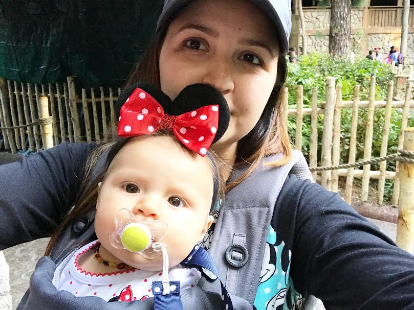 Using a carrier at Disneyland with a baby