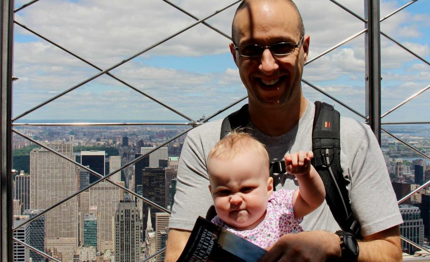 Empire State Building with a baby