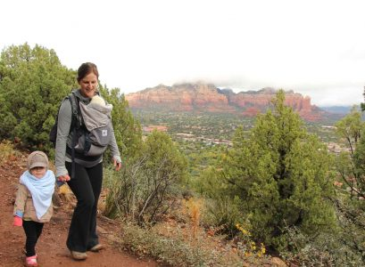 Sedona hiking with a baby and toddler
