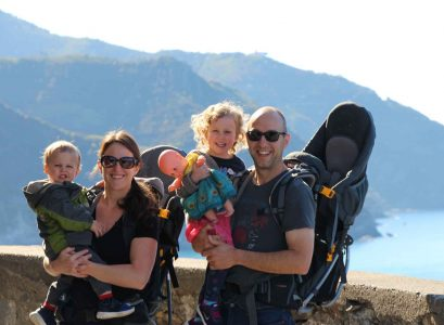 Travel with children in Cinque Terre Italy