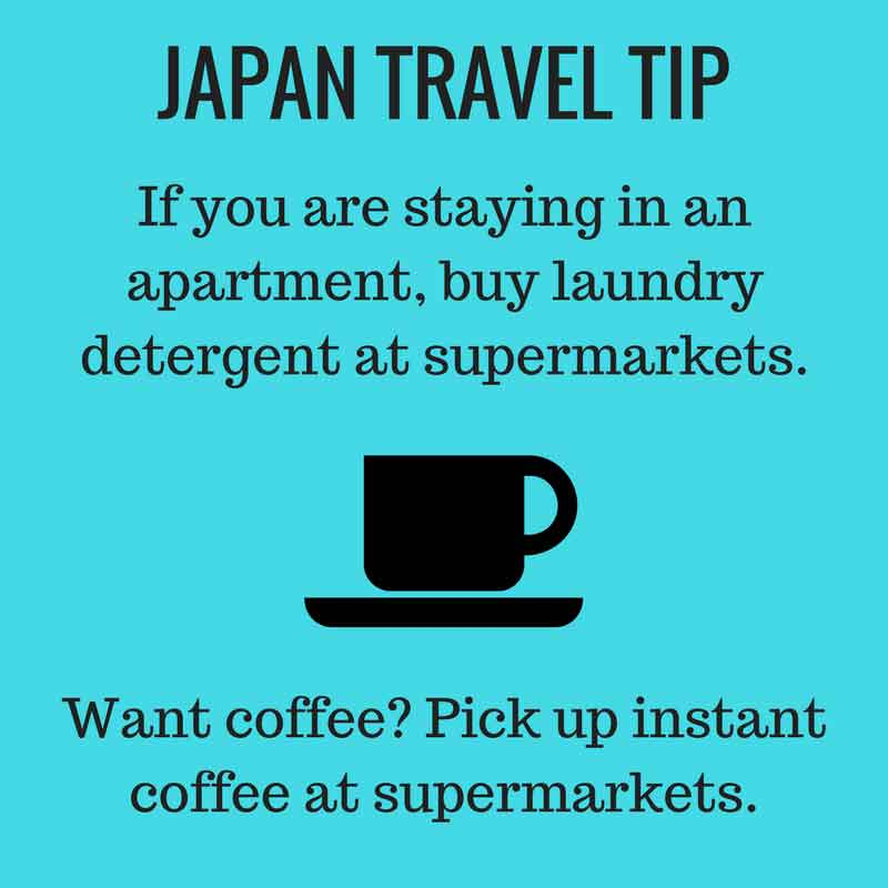 Japan with a baby or toddler travel tip