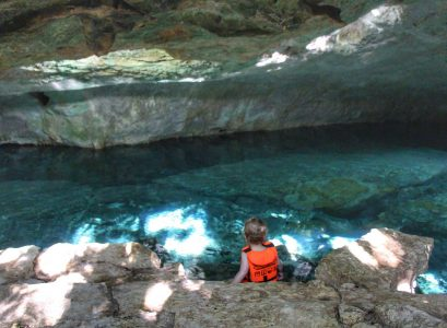Kantun Chi EcoPark Mayan Riviera with a toddler