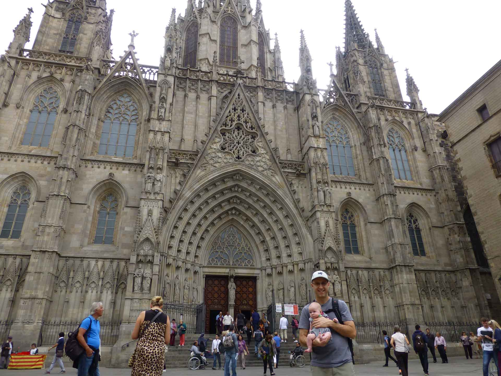 La Catedral Barcelona with a baby