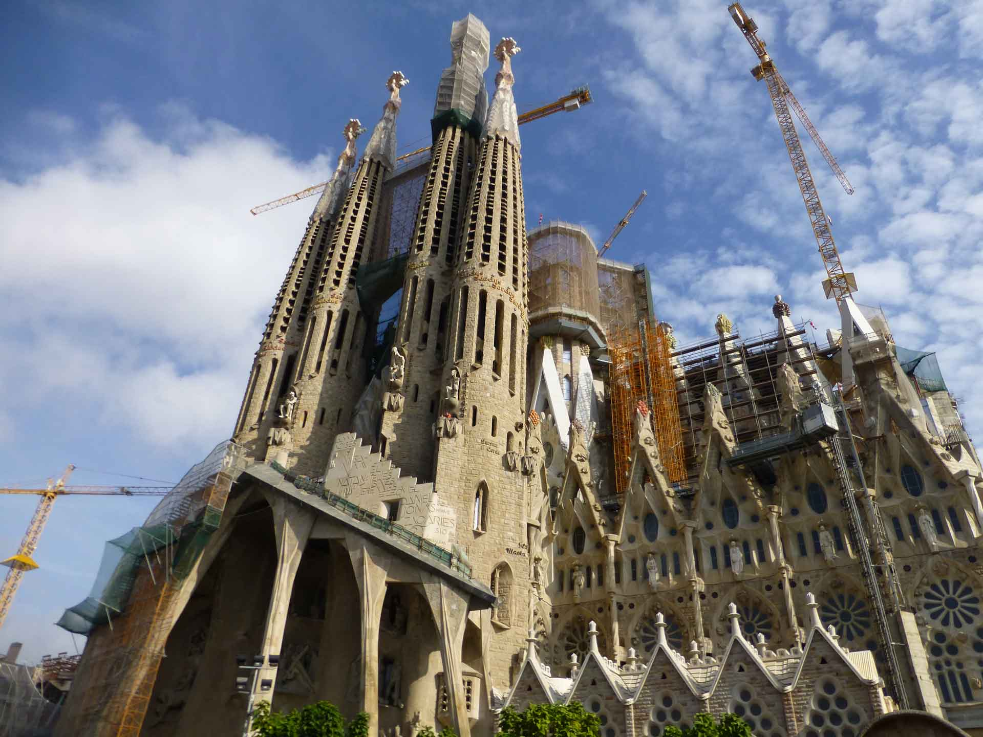 La Sagrada Familia Barcelona with a stroller
