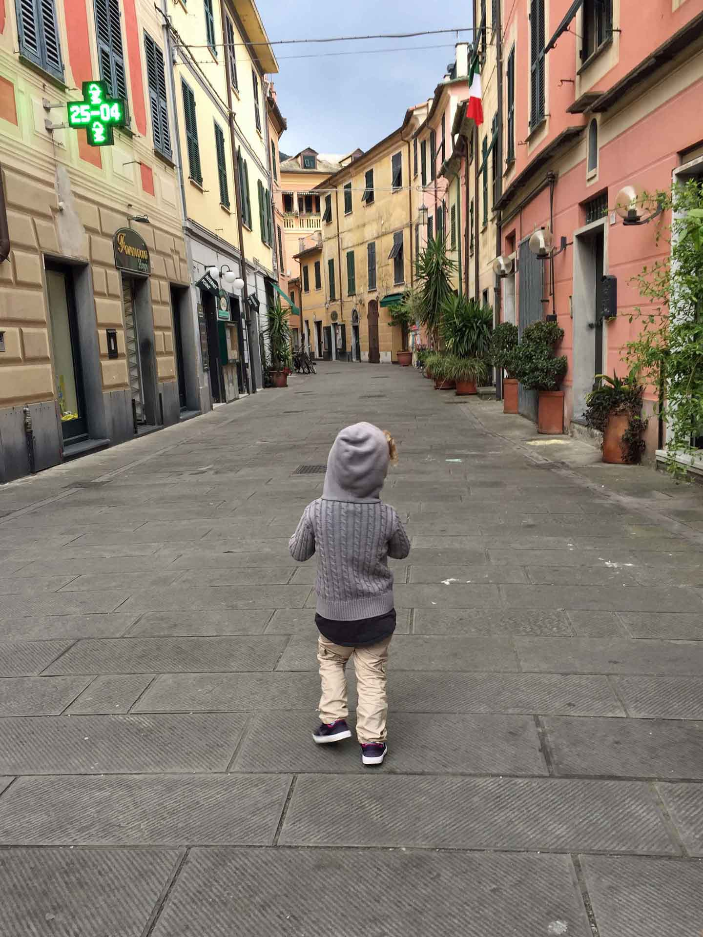 Levanto Italy with toddlers