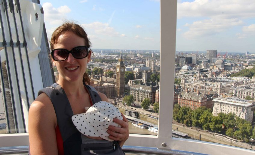 London Eye with a Baby