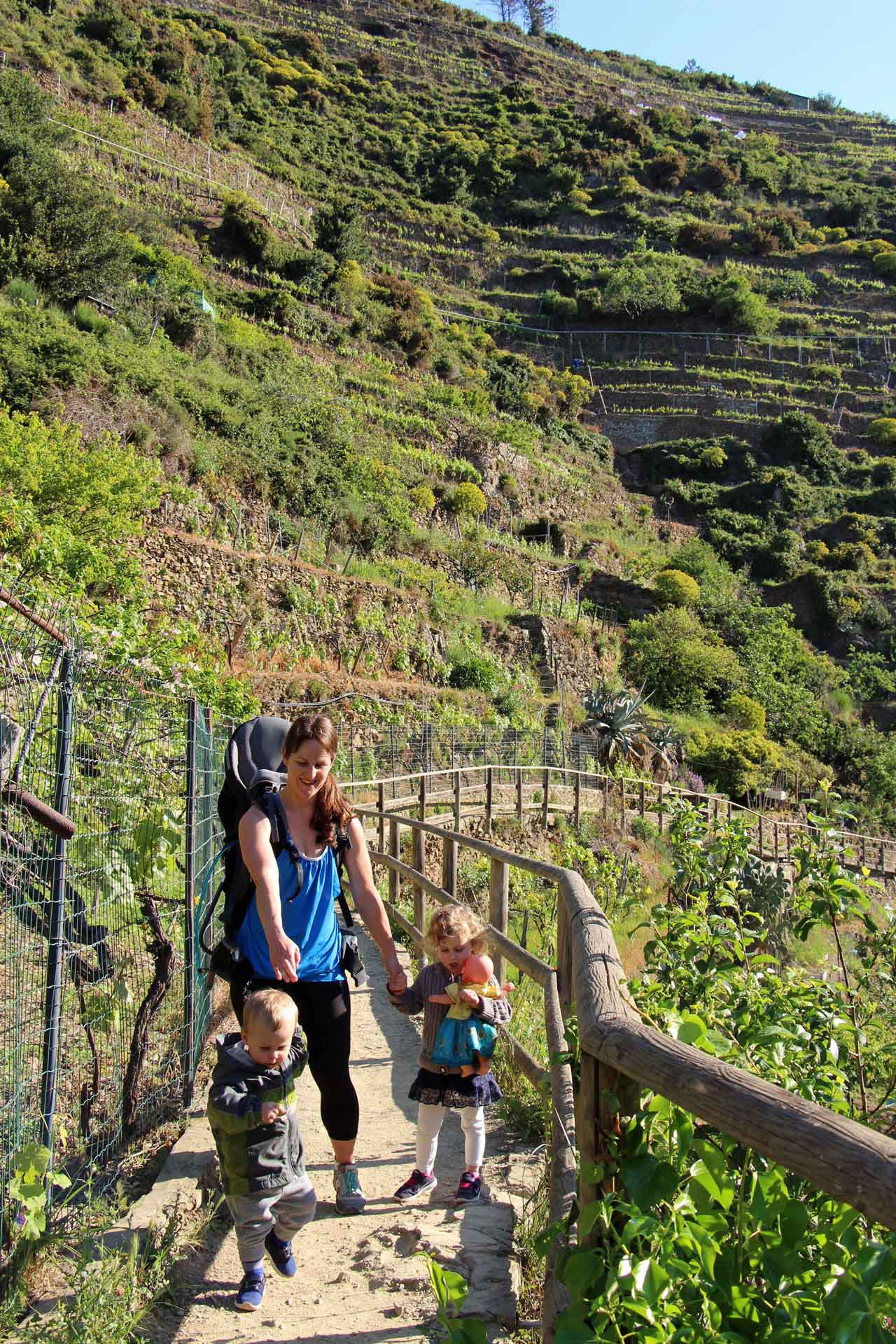 Manarola Cinque Terre Italy with toddlers