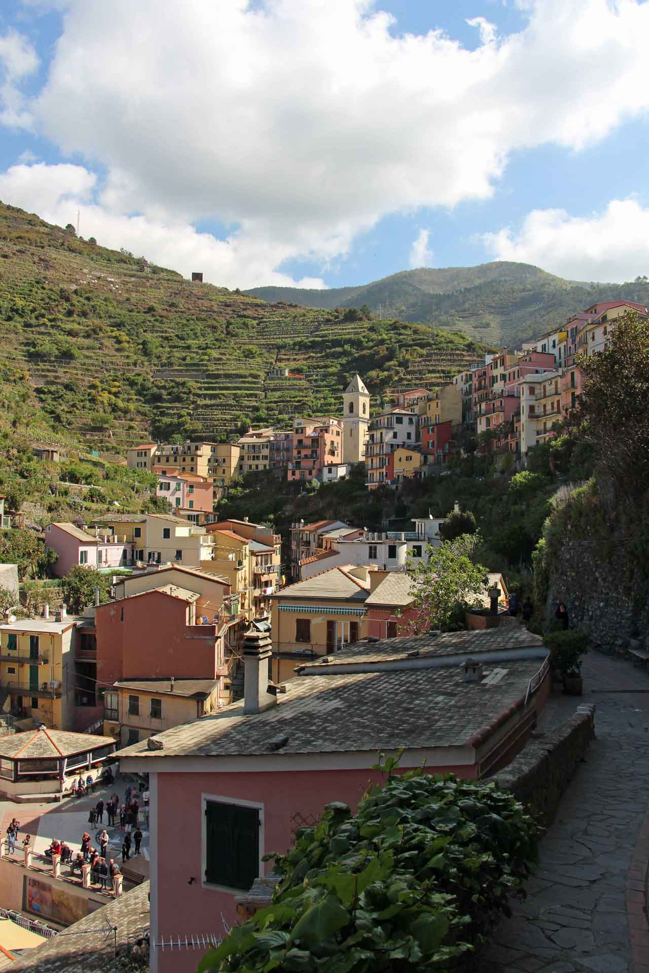 Manarola Cinque Terre Italy with a baby or toddler
