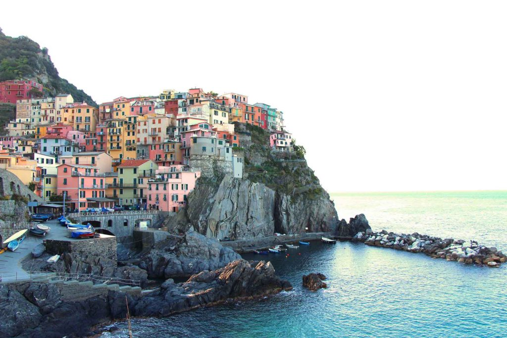 When visiting Cinque Terre with baby or toddler be sure to visit beautiful Manarola, Italy