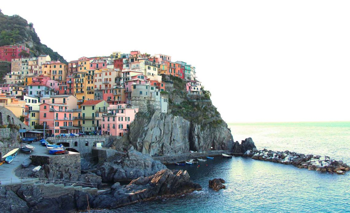 Manarola Cinque Terre Italy with toddler