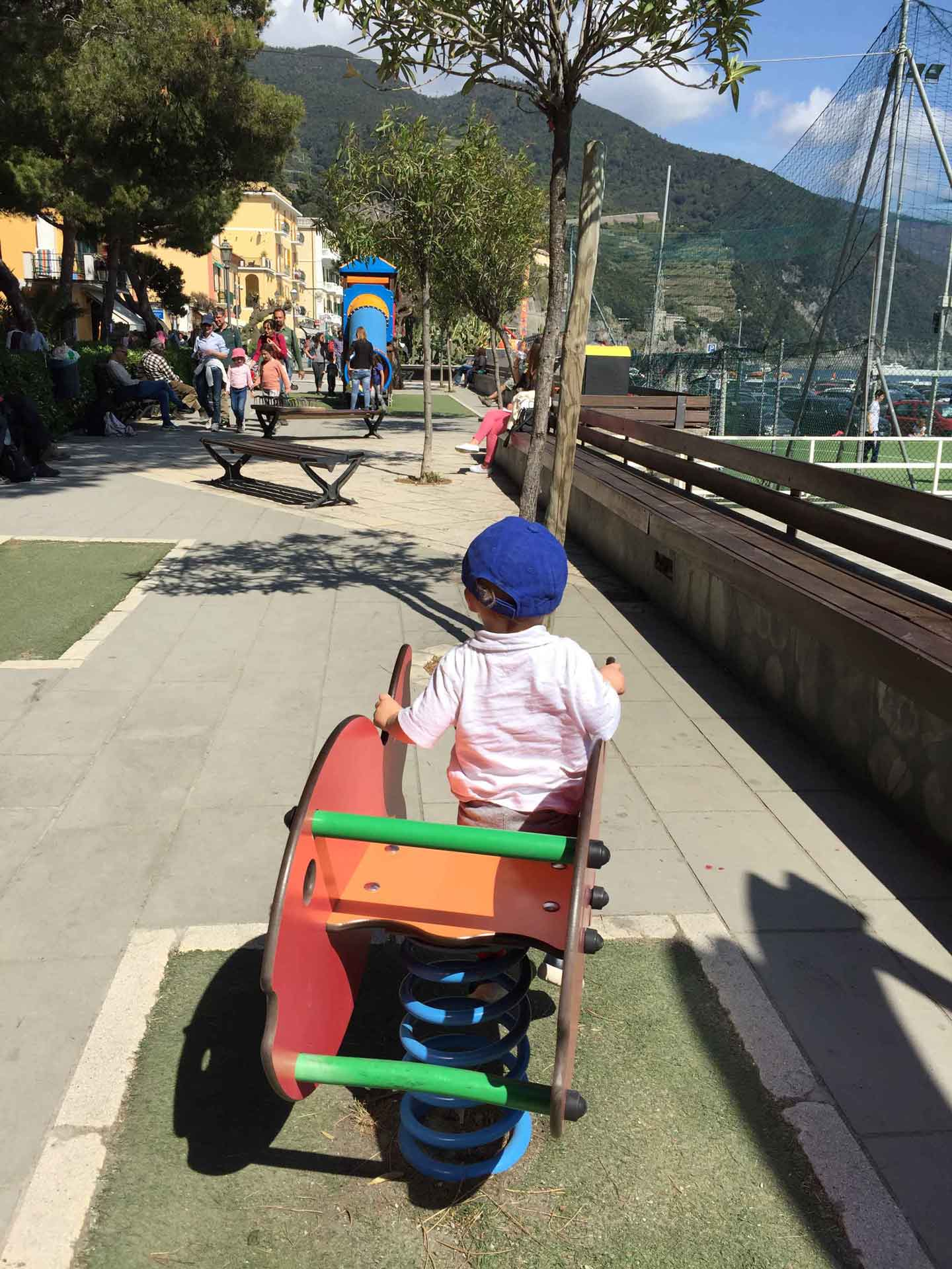 Monterosso Cinque Terre Italy playground near beach