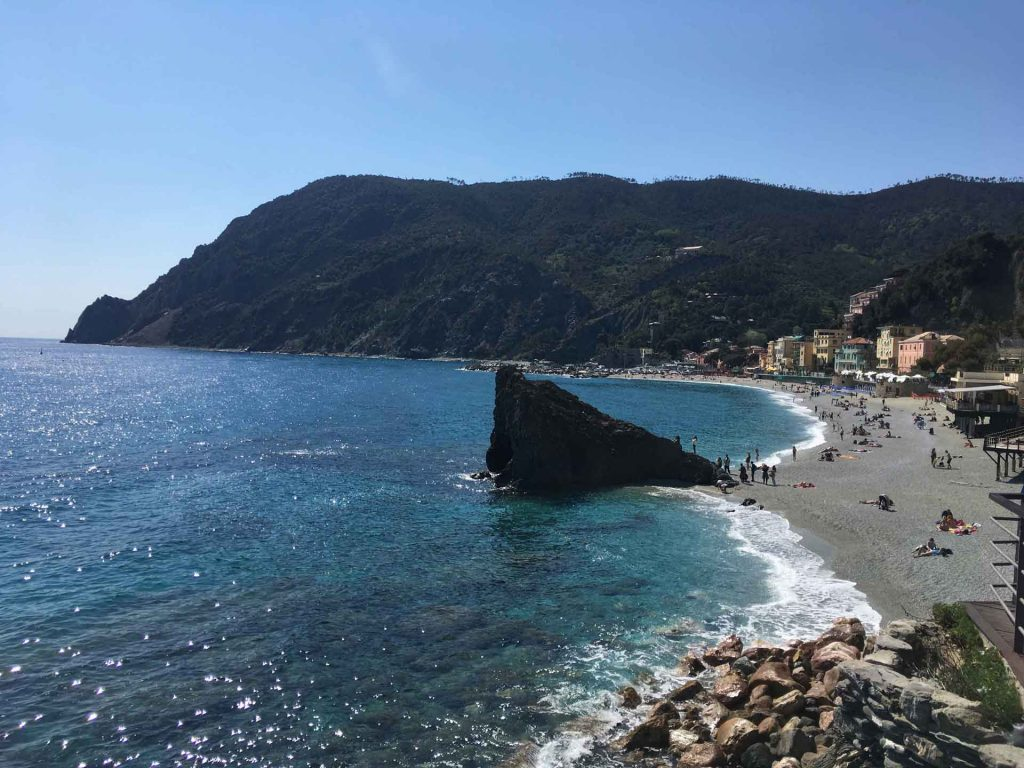 When visiting Cinque Terre with a toddler or baby, be sure to visit the large Monterosso beach