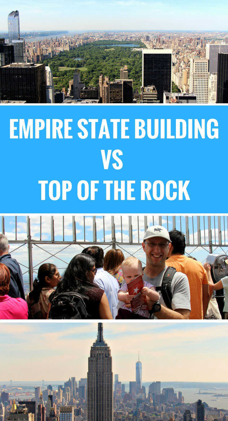 Empire State Building or Top of the Rock with a baby? See which one we recommend! NYC with a Baby | Travel with baby, infant, toddler | Traveling with baby | Family Travel | Manhattan with a baby | Top of the Rock | Rockefeller Center | Empire State Building | Travel to NYC | Stroller in NYC #travelwithbaby #nyc #nycwithbaby #babytravel