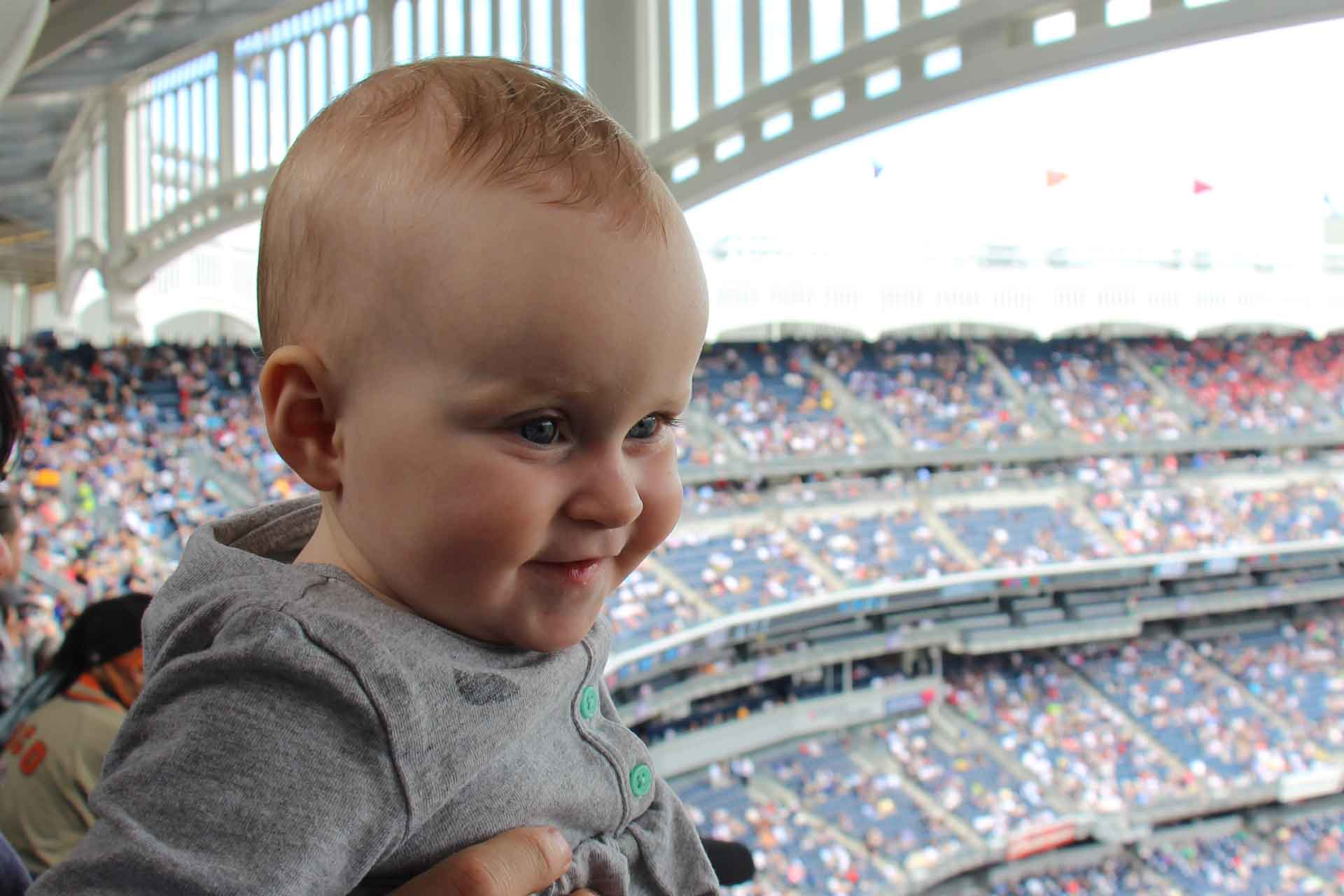 Baseball game with a baby in NYC