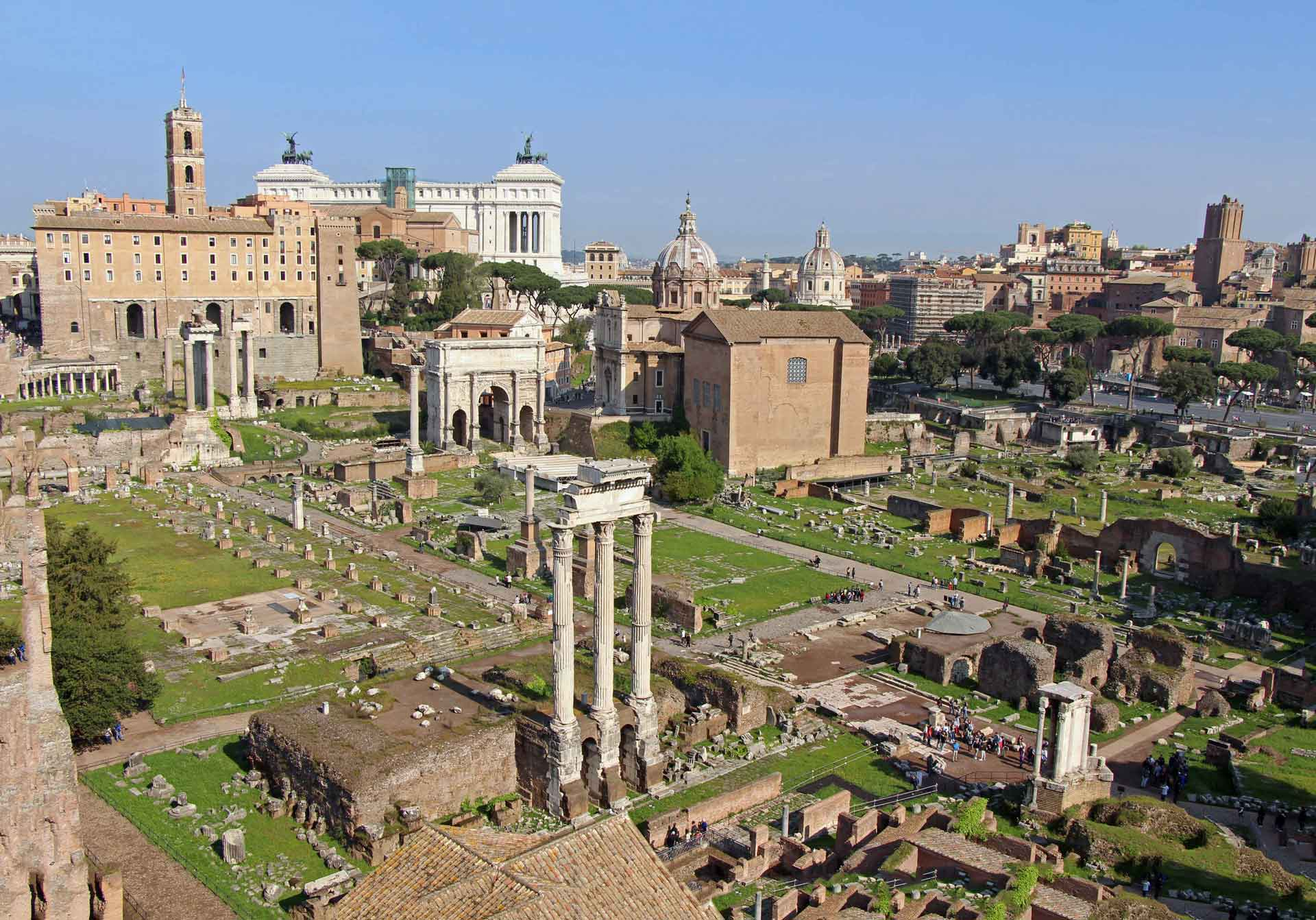 Palatine Hill and Forum in Rome Italy